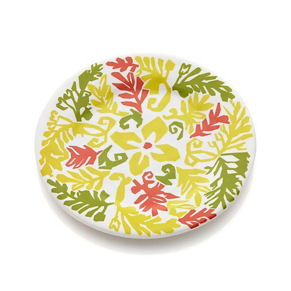 "Vinca Yellow 8.5"" Melamine Plate"