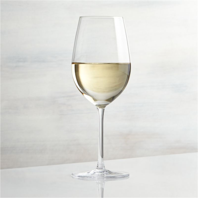 Great wines deserve the right glass to bring out their distinct aromas and tastes. Our Vineyard wine glass collection offers a suite of glasses, each crafted with specially shaped bowls to enhance enjoyment of white, red and sparkling wines. The classic tulip shape of the Viognier glass promotes the crisp nature of young white wines while keeping them properly chilled. Each elegantly shaped glass is handcrafted by highly skilled European glassmakers.<br /><br /><NEWTAG/><ul><li>Handcrafted</li><li>Glass</li><li>Hand wash</li><li>Made in Czech Republic</li></ul>