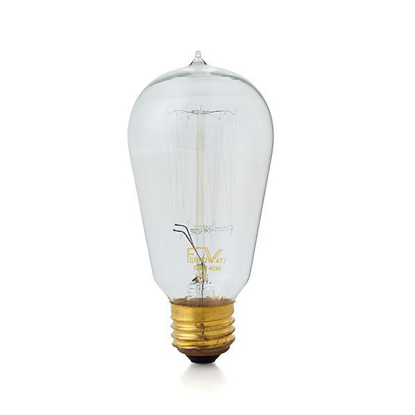 vintage 40w filament light bulb crate and barrel. Black Bedroom Furniture Sets. Home Design Ideas
