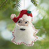 Vintage Felt Santa Head Ornament