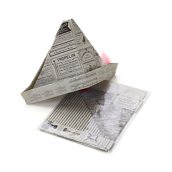 Vintage Newspaper Boat Hat Kit