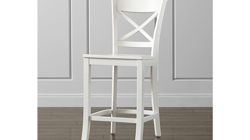 Vintner White Counter Stool