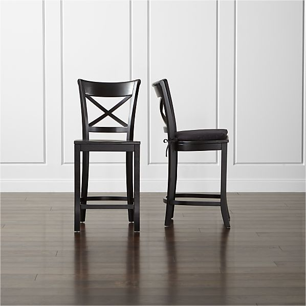Vintner Black Bar Stool and Cushion
