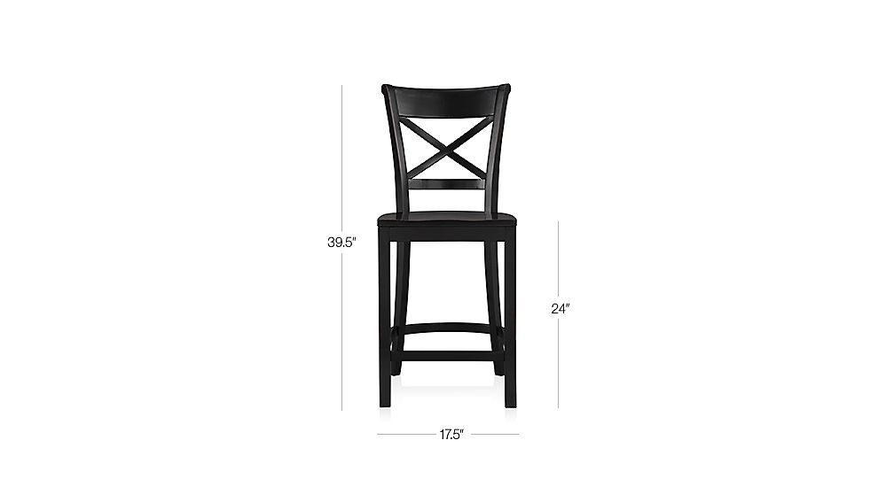Vintner Black Counter Stool Dimensions