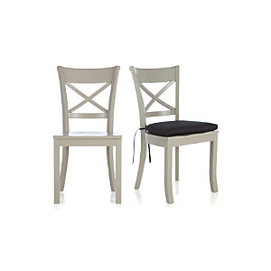 Vintner Dove Side Chair and Black Cushion