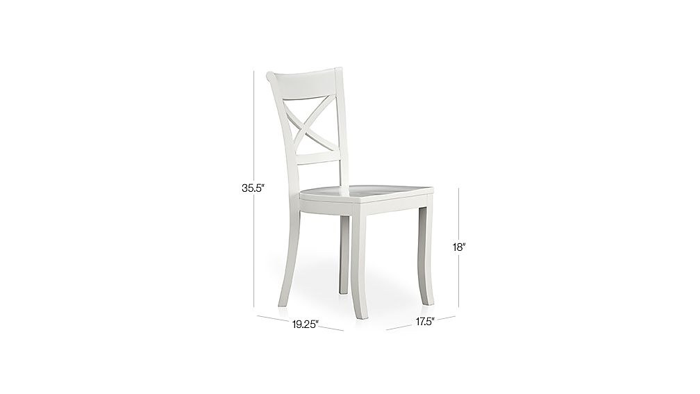 Vintner White Side Chair Dimensions