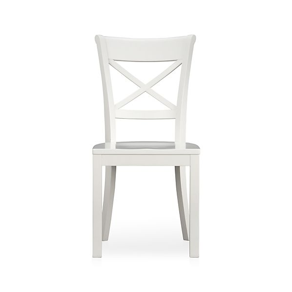 Vintner White Wood Dining Chair in Dining Chairs  Crate and Barrel