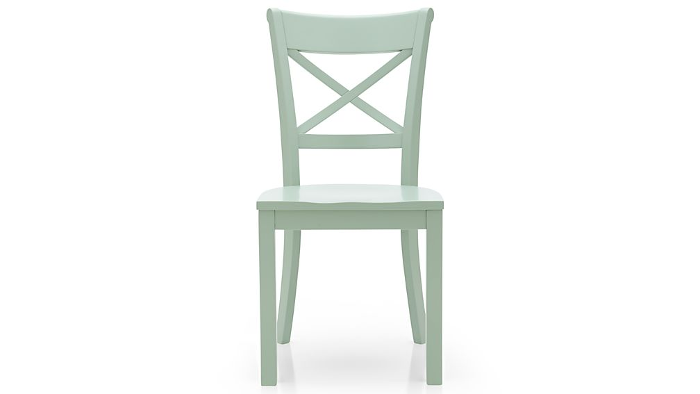 Vintner Mint Wood Dining Chair In Dining Chairs Crate And Barrel