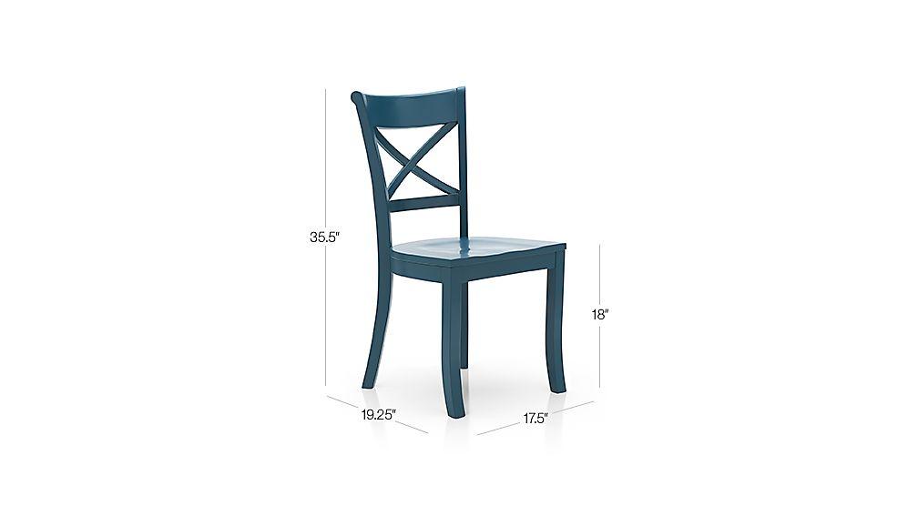 Vintner Peacock Side Chair Dimensions