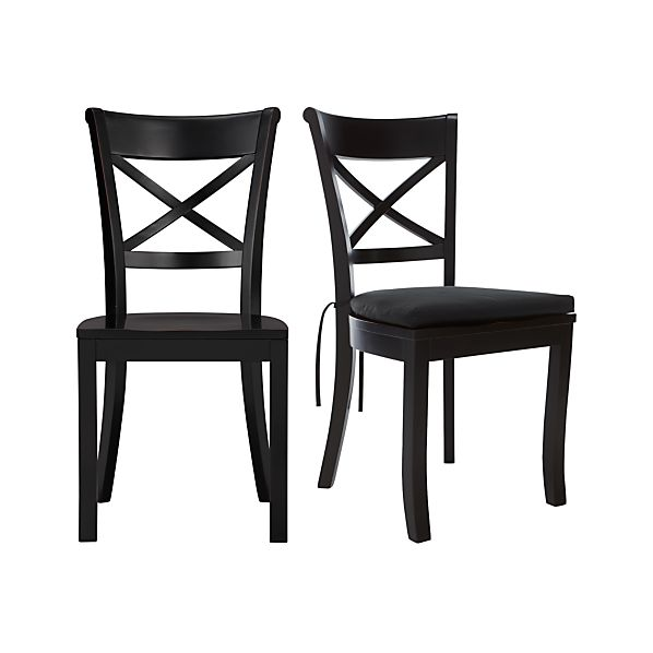 Vintner Black Side Chair and Cushion