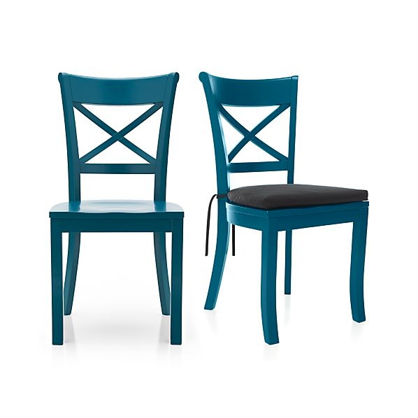 Vintner Peacock Side Chair and Cushion