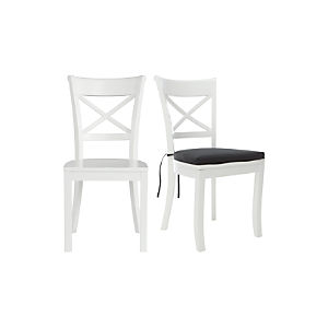 Vintner White Side Chair and Cushion