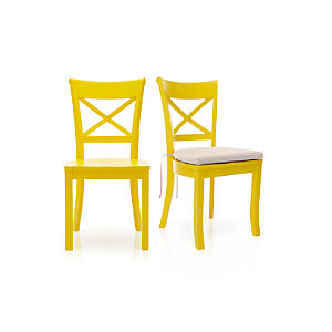 Vintner Yellow Side Chair and Cushion