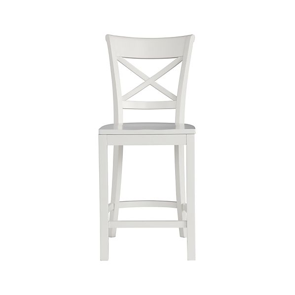 "Vintner 24"" White Bar Stool"