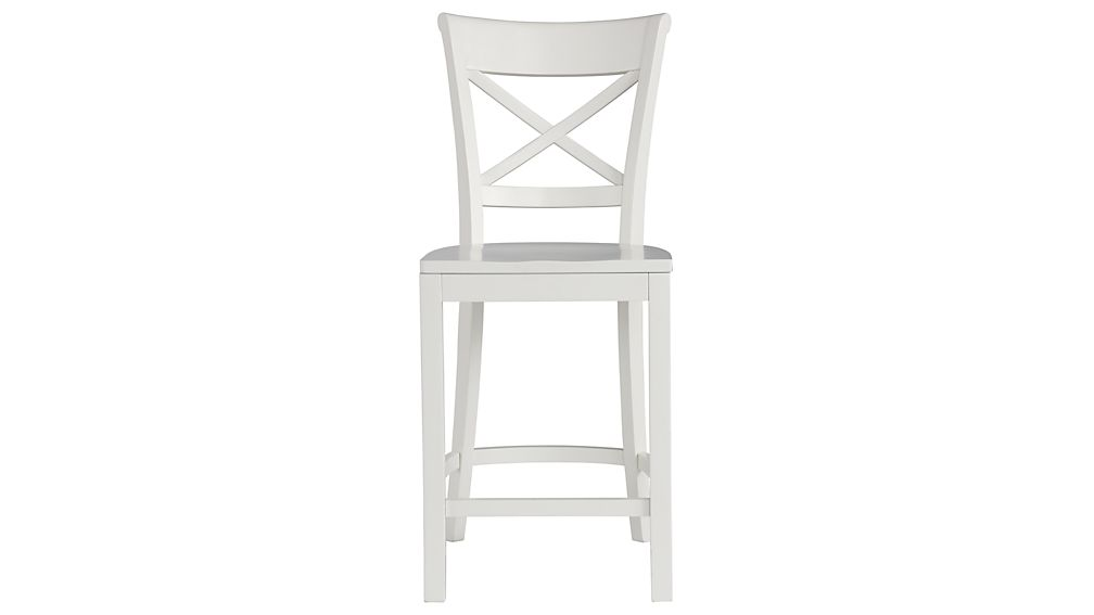 vintner white counter stool in bar stools crate and barrel. Black Bedroom Furniture Sets. Home Design Ideas