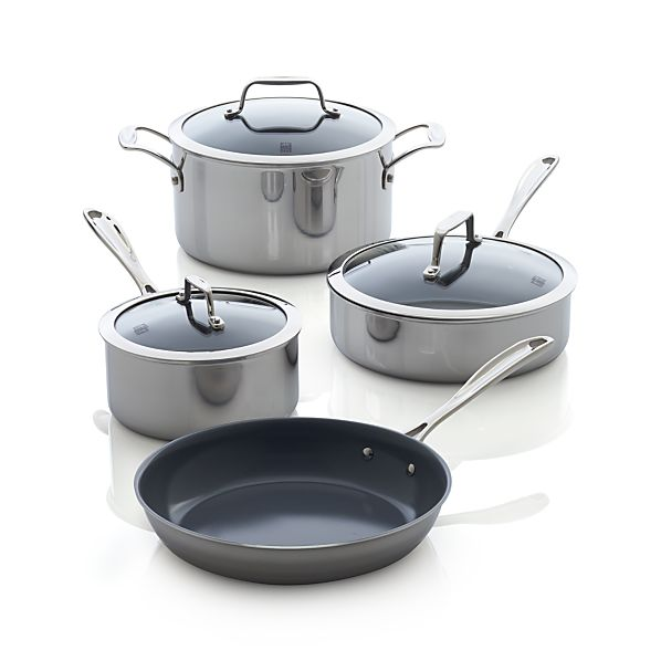 ZWILLING ® J.A. Henckels VistaClad Ceramic Nonstick 7-Piece Cookware Set
