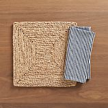 Vista Square Placemat and Seersucker Navy Napkin
