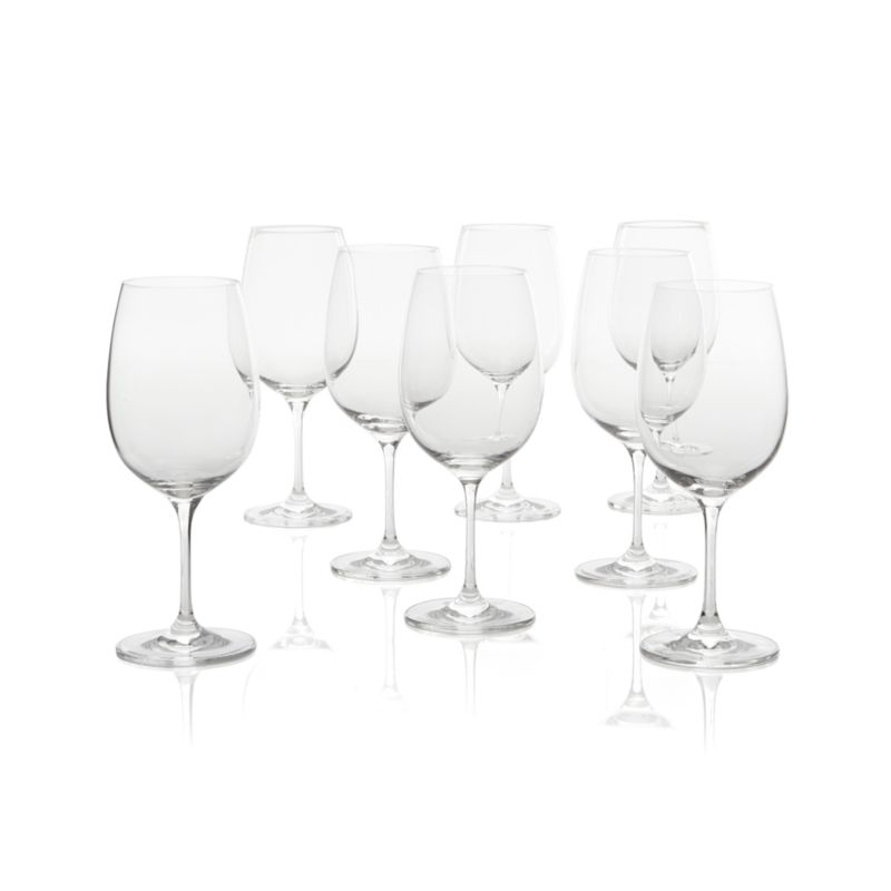 Set of 8 Viv Big Red Wine Glasses