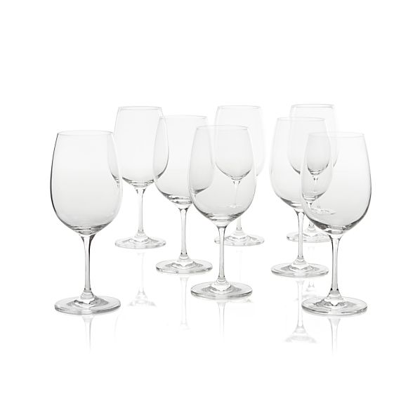 Viv Big Red Wine Glasses Set of Eight