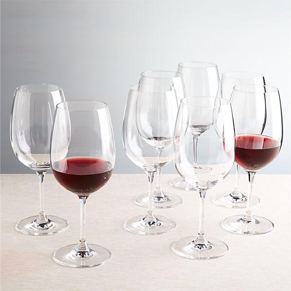 Set of 8 Viv Big Red Wine Glasses