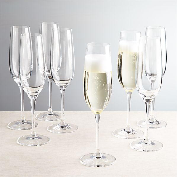 Viv Champagne Glasses Set of Eight