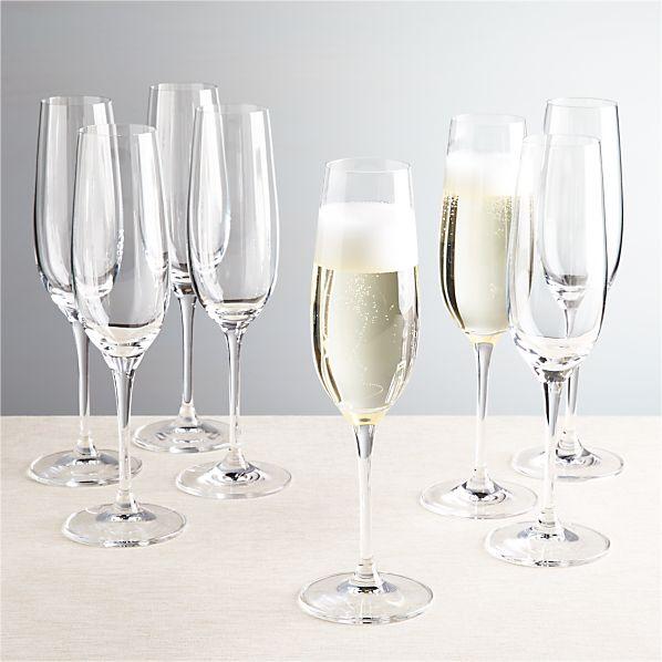 Set of 8 Viv Champagne Glasses