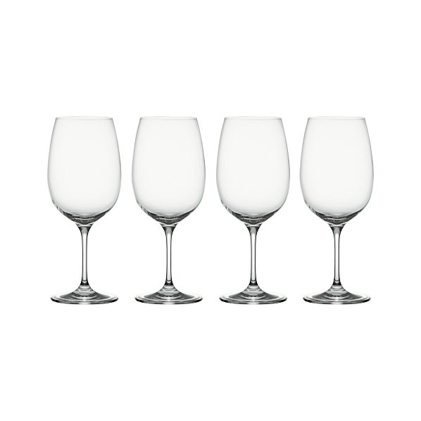 Set of 4 Viv Big Red Wine Glasses