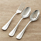 Voletta 3-Piece Serving Set: serving fork, pierced serving spoon and serving spoon.