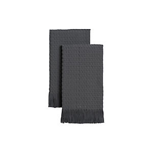 Waffle Grey Guest Towels Set of Two
