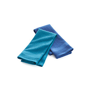 Set of 2 Waffle-Terry Blue Dishtowels