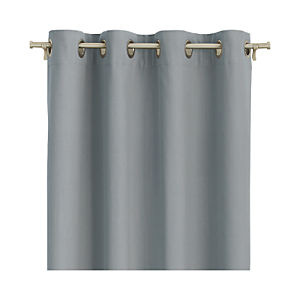 "Wallace Grey 52""x96"" Grommet Curtain Panel"