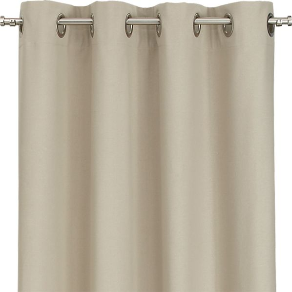 Wallace Flax 52x96 Grommet Curtain Panel
