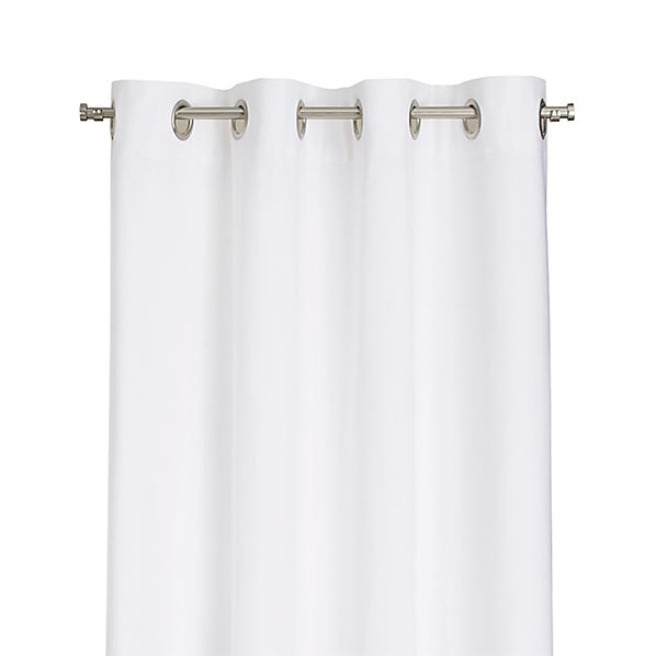 "Wallace White 52""x63"" Grommet Curtain Panel"