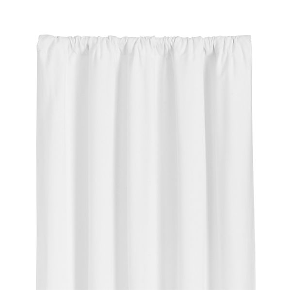 Wallace White 52x63 Curtain Panel