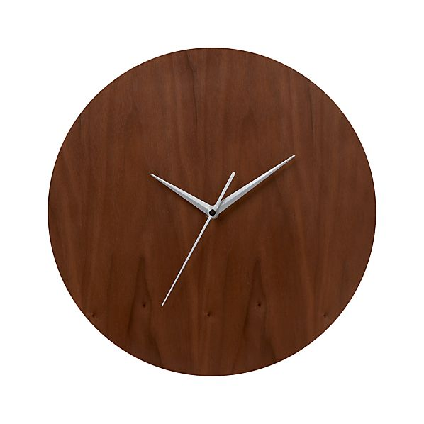 Walnut Wall Clock - Crate &amp; Barrel