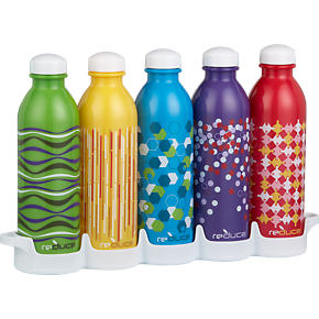 Set of 5 WaterWeek Bottles