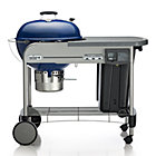 Weber® Performer Platinum Charcoal Grill Blue.