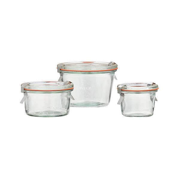 Weck Low Canning Jars