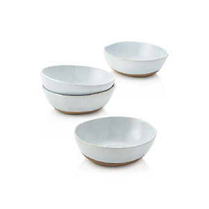 Set of 4 Welcome White Bowls
