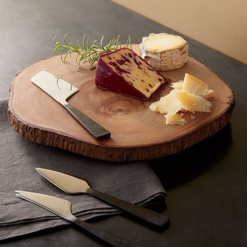 Cutting Board and Cheese Knives