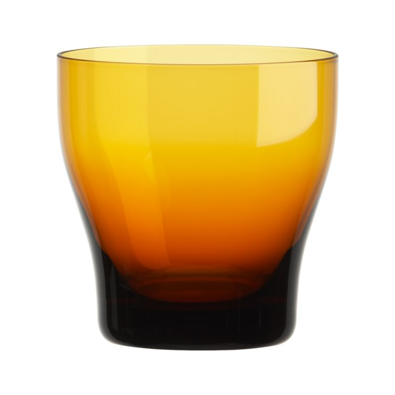 Conceived with the thought of friends and family coming together and enjoying good food, wine and conversation, our exclusive Welcome collection is informed by an encompassing multicultural mindset. Handcrafted barware features subtly contoured shapes that feel great in the hand, here in glowing amber with clear sham base. These pieces join our extended Welcome family of glazed stoneware dinner pieces, wood, glass and metal serving pieces, glassware and flatware in a tableau of beautifully contrasting color accented with warm metallics, colored glass and oxidized metals.<br /><br /><NEWTAG/><ul><li>Handcrafted clear and amber glass</li><li>Cut and polished rim</li><li>Designed by Aaron Probyn</li><li>Hand wash</li><li>Made in Poland</li></ul>