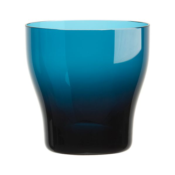 Welcome Blue Double Old-Fashioned Glass