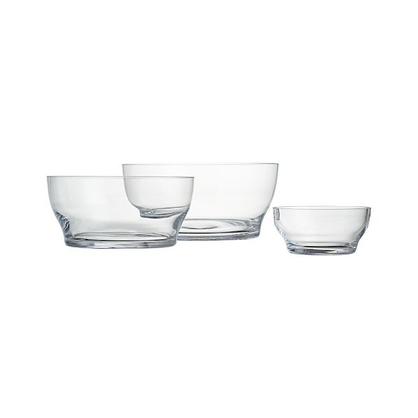 "Welcome 5.75""-11.25"" Glass Bowls"