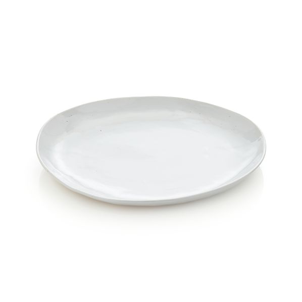 Welcome White Low Serving Bowl