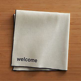 Welcome Napkin