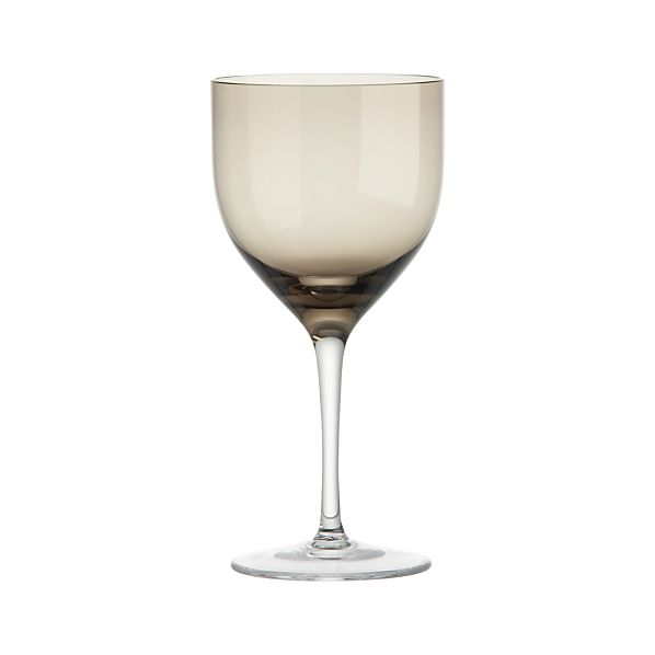 Welcome Grey White Wine Glass