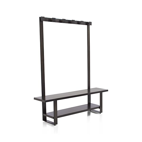 Welkom Hall Tree Bench With Coat Rack Crate And Barrel
