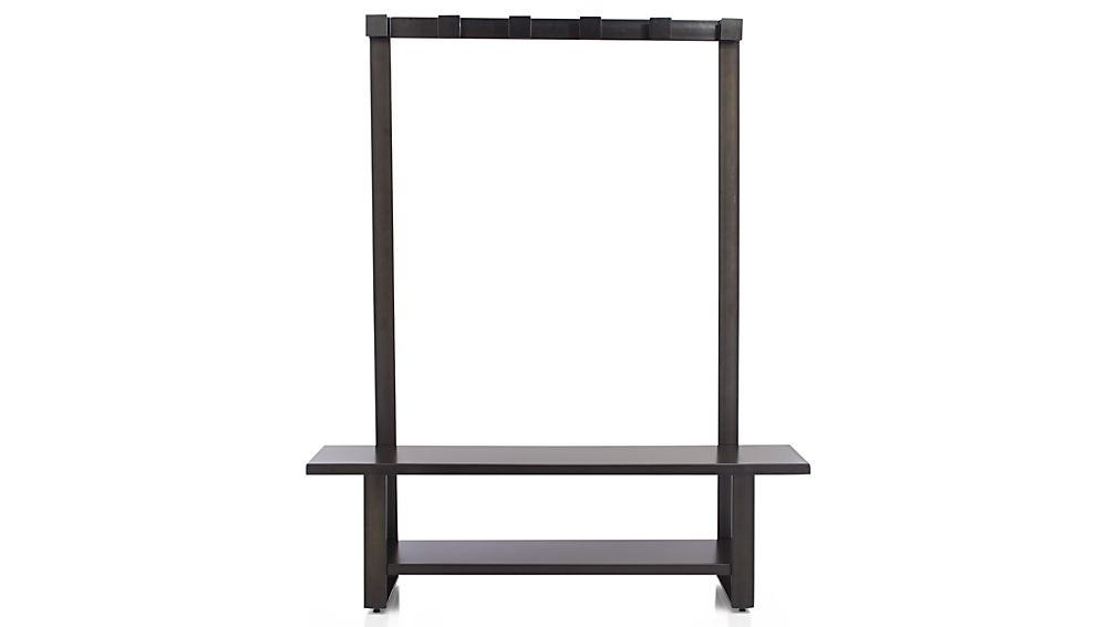 Welkom Hall Tree Bench with Coat Rack : Crate and Barrel