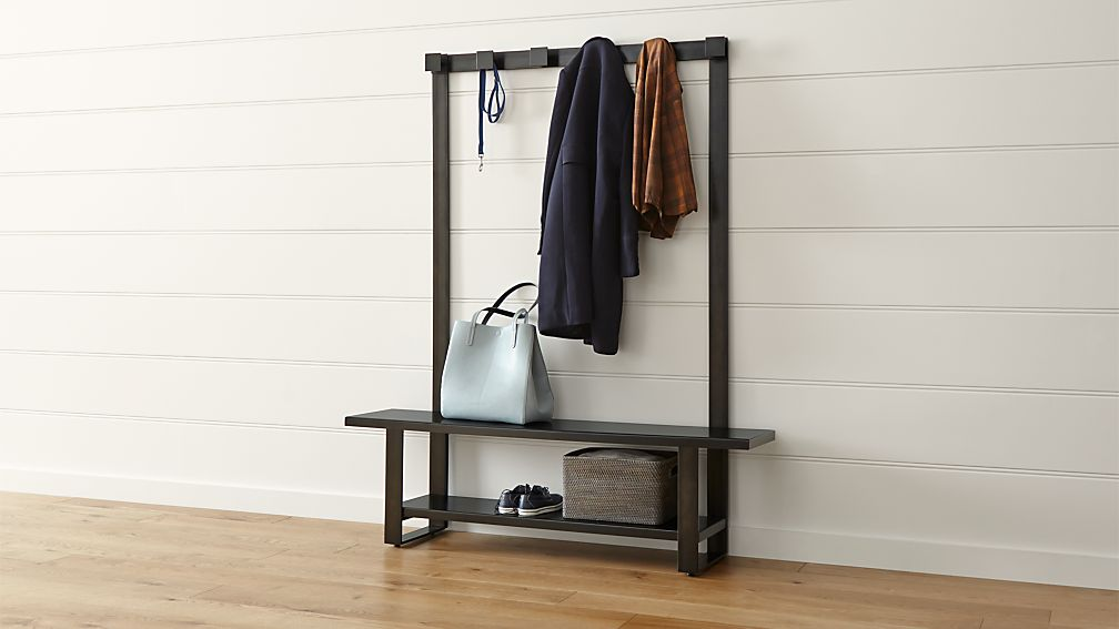 Welkom Hall Tree Bench with Coat Rack Crate and Barrel : welkom hall tree bench with coat rack from crateandbarrel.com size 1008 x 567 jpeg 46kB