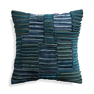 "Wendell Blue 20"" Pillow with Down-Alternative Insert"